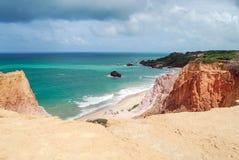 Brasilianische Küstenlinie Stockbild