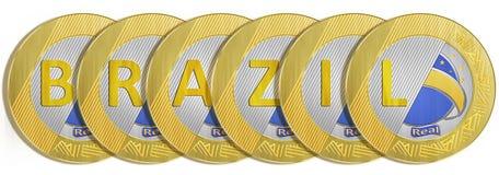 Brasilianische Münzen Stockfotografie