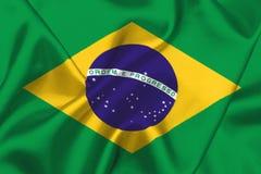 Brasilianische Markierungsfahne Stockfotos