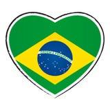 Brasilianische Markierungsfahne Stockfotografie