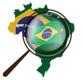 Brasilianische Markierungsfahne Stockfoto