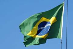 Brasilianische Markierungsfahne Lizenzfreies Stockfoto