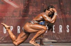 Brasilianische Schönheit zeigt Muskel an Toronto-Wettbewerb an stockbilder