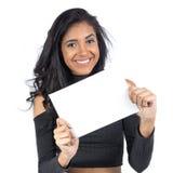 Brasilianische sichere rechteckige Platte Weibliches Modell, das schwarze Clo trägt Lizenzfreies Stockfoto