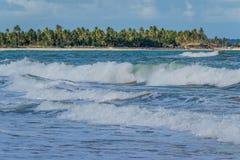 Brasilianische Strände-Pontal tun Coruripe, Alagoas Stockfotos