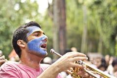 Brasilianische Straßenparade Stockfotografie