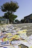 Brasilianische Wahlen 2012 - schmutzige Stadt Lizenzfreies Stockbild