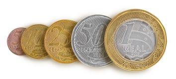 Brasilianische wirkliche Münze Linie Lizenzfreie Stockfotos