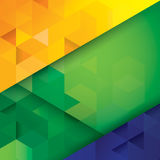 Brasilianischer Flaggenkonzept-Vektorhintergrund. Vektor Abbildung