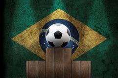 Brasilianischer Fußball auf dem Podium Lizenzfreie Stockfotos