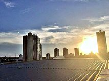 Brasilianischer Sonnenuntergang lizenzfreie stockfotos
