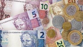 Brasilianischer wirklicher Rechnungs-Hintergrund Lizenzfreie Stockbilder