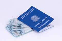 Brasilianisches Arbeitsdokument und Sozialversicherungsdokument (carteira d Stockbilder