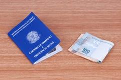 Brasilianisches Arbeitsdokument und Sozialversicherungsdokument (carteira d Lizenzfreies Stockfoto