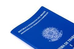 Brasilianisches Arbeitsdokument und Sozialversicherungsdokument (carteira d Stockfoto