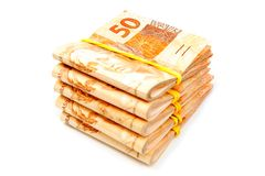 Brasilianisches Bargeld Lizenzfreies Stockbild