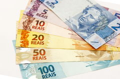 Brasilianisches Bargeld Lizenzfreie Stockfotografie