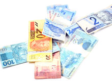 Brasilianisches Geld Stockfoto