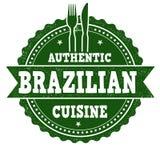 Brasilianisches Küchezeichen oder -stempel vektor abbildung
