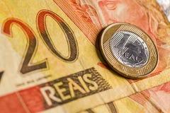 Brasilianisches wirkliches Lizenzfreie Stockfotos