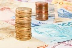 Brasilianisches wirkliches Geld Lizenzfreie Stockfotos