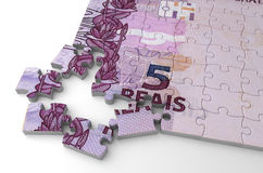 Brasilianisches wirkliches Puzzlespiel Lizenzfreies Stockfoto