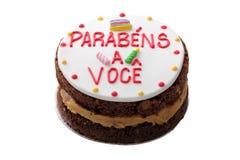 brasiliansk cake för födelsedag royaltyfri bild