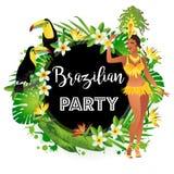 brasiliansk dansaresamba Royaltyfri Foto