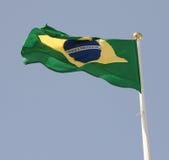 brasiliansk flagga Arkivbilder