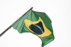 brasiliansk flagga Arkivfoto