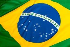 brasiliansk flagga Fotografering för Bildbyråer