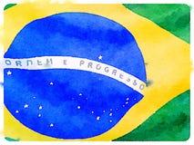 Brasiliansk flagga 1 för DW Royaltyfria Foton