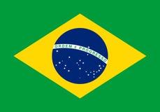 Brasiliansk flagga, plan orientering, illustration Royaltyfri Bild