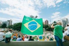 brasiliansk folkmassa Royaltyfri Foto