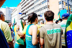 brasiliansk folkmassa Royaltyfria Foton