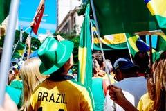brasiliansk folkmassa Arkivfoton