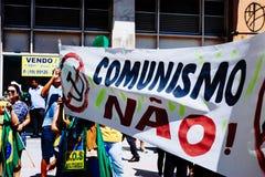 brasiliansk folkmassa Arkivfoto