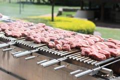 Brasiliansk grillfest Arkivbild