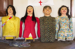 Brasiliansk karnevaldräkt Royaltyfria Foton
