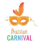 Brasiliansk karnevalmaskering Arkivfoto
