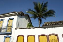 Brasiliansk kolonial arkitektur Paraty Brasilien Arkivbild