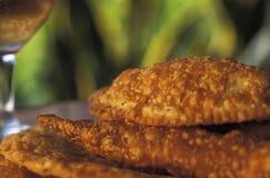 Brasiliansk mat: pasteis Fotografering för Bildbyråer
