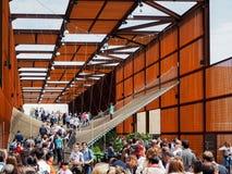 Brasiliansk paviljong på EXPON, världsutläggningen Royaltyfri Fotografi