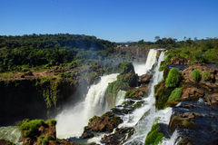 Brasiliansk sida av Iguassu nedgångar Royaltyfri Foto