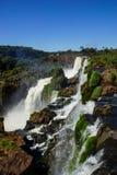 Brasiliansk sida av Iguassu nedgångar Royaltyfri Fotografi