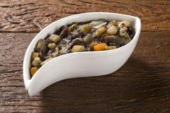 Brasiliansk traditionell mat kallade feijao de capataz Royaltyfri Fotografi