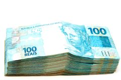 brasiliansk valuta Royaltyfri Bild