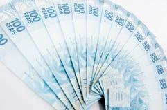 brasiliansk valuta Royaltyfria Bilder