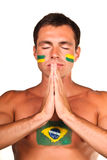 brasiliansk ventilatorfotboll Arkivbilder