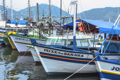 Brasilianska fiskebåtar Royaltyfri Foto